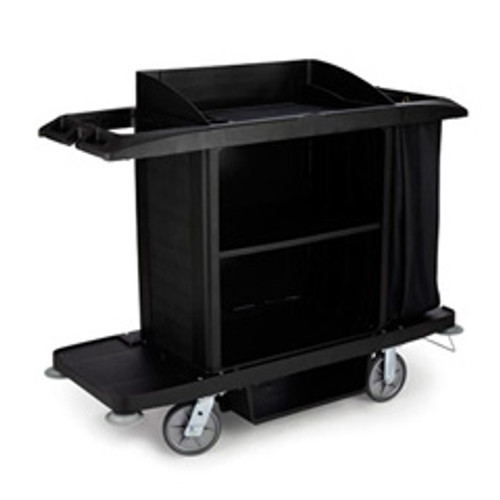 Rubbermaid 6189bla hotel maids housekeeping cart full size 22x60x50 rcp6189bla replaces rcp6189bla rcpfg618900bla
