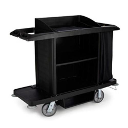 Rubbermaid 6189bla hotel maids housekeeping cart full size 22x60x50 rcp6189bla replaces rcp6189bla rcpfg618900bla
