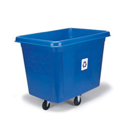 Rubbermaid 461673blu recycling cube utility truck 16 cubic feet 500 lb. blue replaces rcp461673blu rcp461673be
