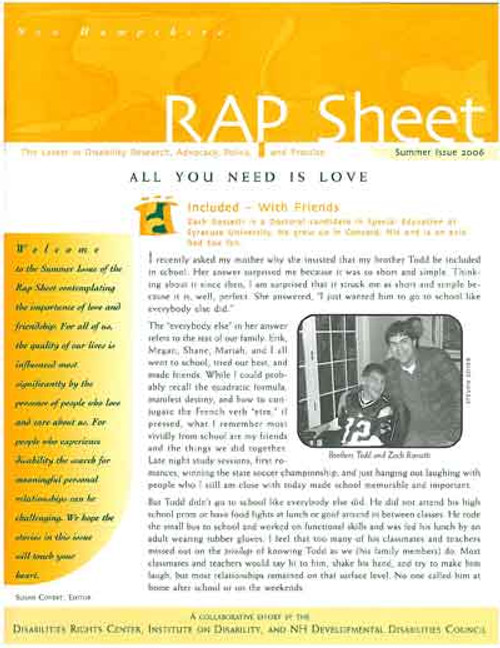 NH RAP Sheet Summer 2006: All You Need is Love