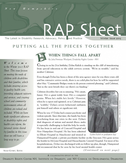 NH RAP Sheet Winter 2015: Putting All the Pieces Together