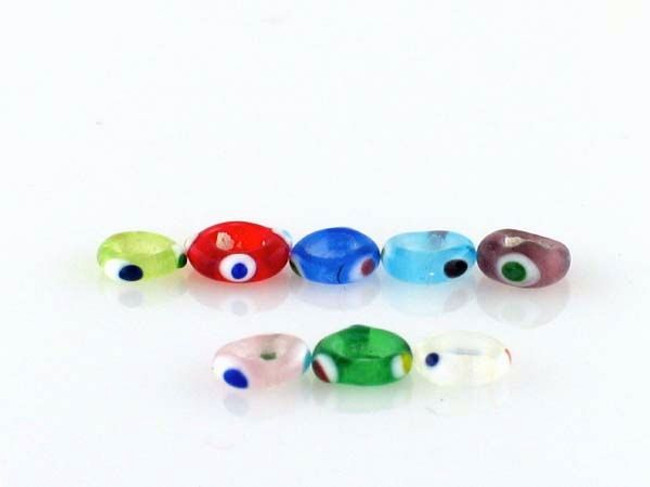 24 Count 6.5mm Transparent Colors Lampwork Eye Beads (Closeout)