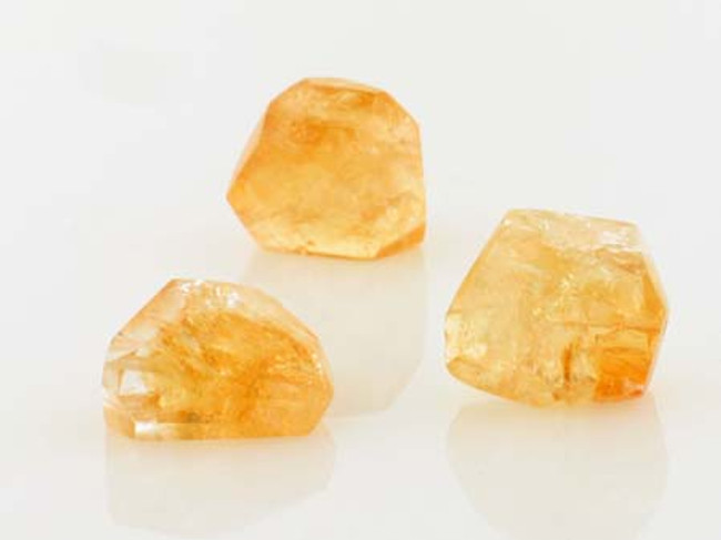 3 Count 20x18mm Citrine Simple Cut Nuggets (Sale)