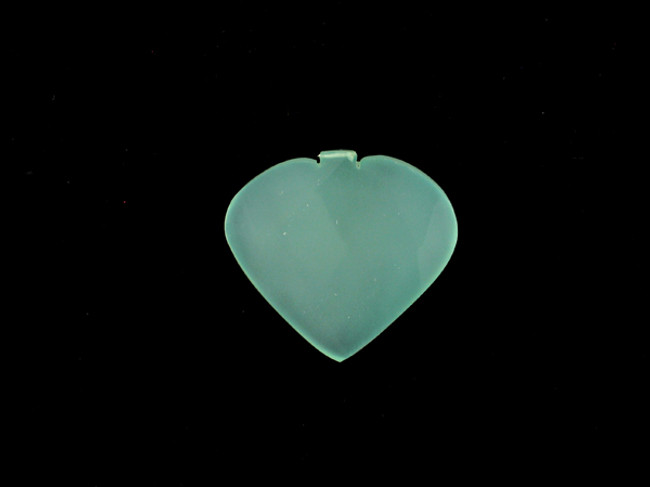 1 Count33x33mm Blue Peruvian Calcite Faceted Heart Pendant (Sale)
