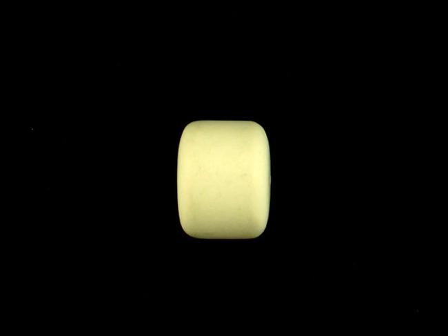 1 Count 22mm Lemon Chrysoprase Matte Finish Barrel (Sale)