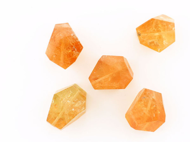 1 Count 20x25mm Citrine Faceted Nugget (Sale)