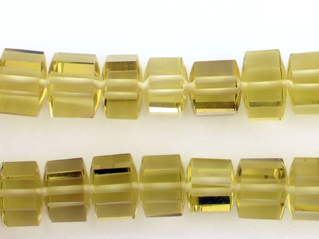 51 Count Varied Size Lemon Citrine Hexagonal Cylinders (Sale)