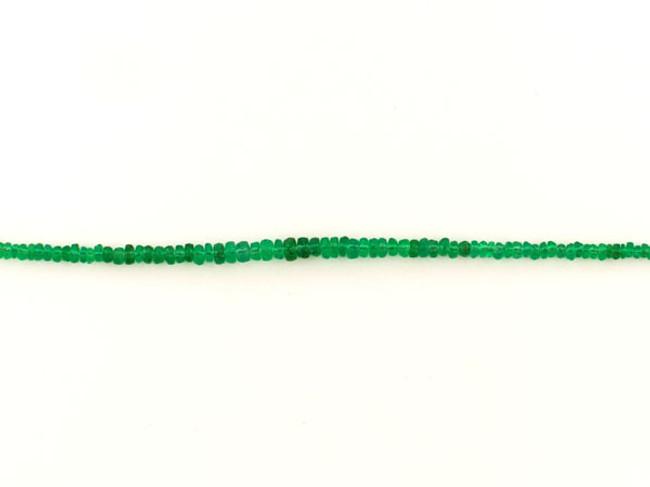 80 Count Graduated Green Emerald Rondelles (Sale)