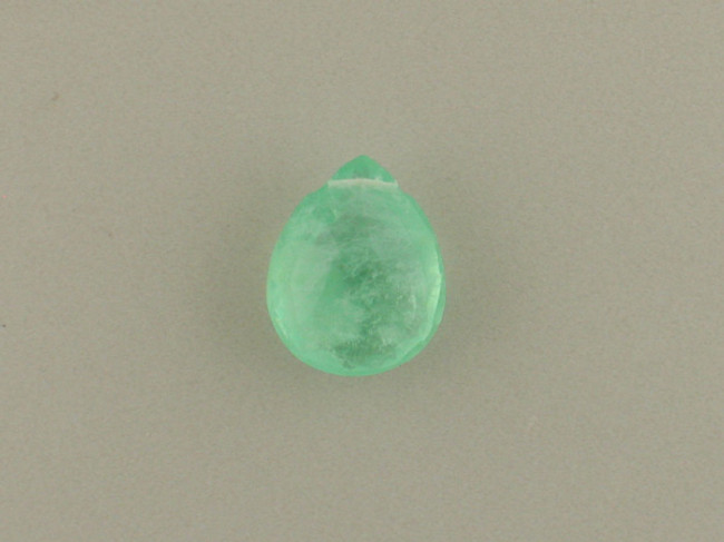 1 Count 16x13mm Green Fluorite Faceted Pear (Sale)