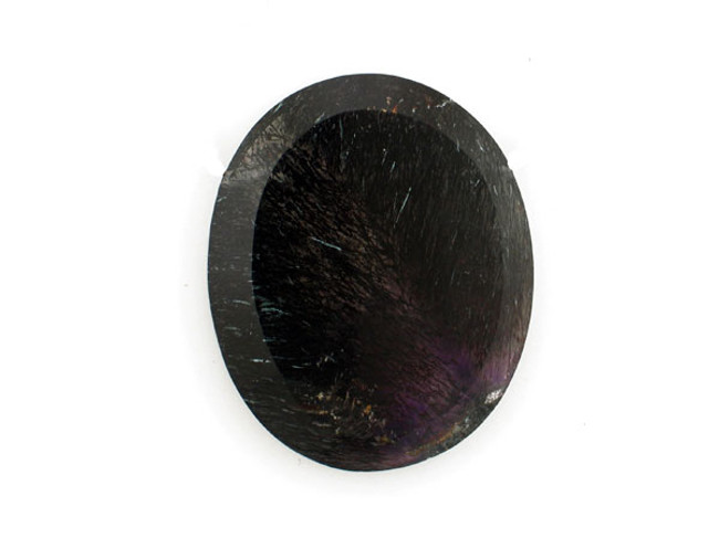 1 Count 49x40mm Black And Purple Goethite In Amethyst '1 Of A Kind'  Pendant (Sale)