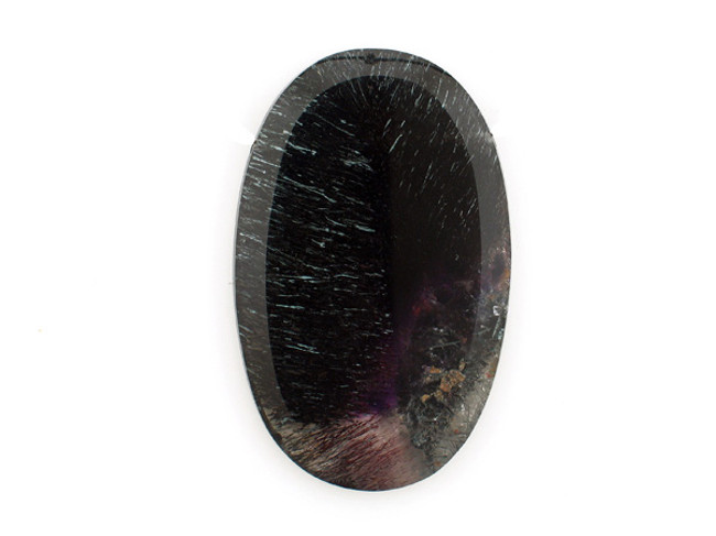 1 Count 70x44mm Black And Purple Goethite In Amethyst '1 Of A Kind'  Pendant (Sale)