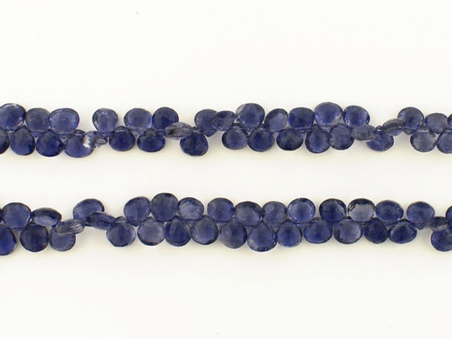 135 Count Graduated Violet Blue Iolite Short Faceted Pears (Sale)
