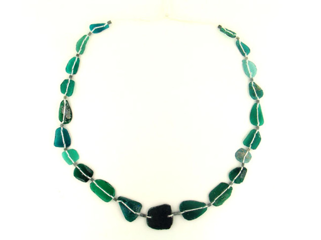 45 Count Teal Recycled Glass & Stone '1 Of A Kind' Set (Sale)