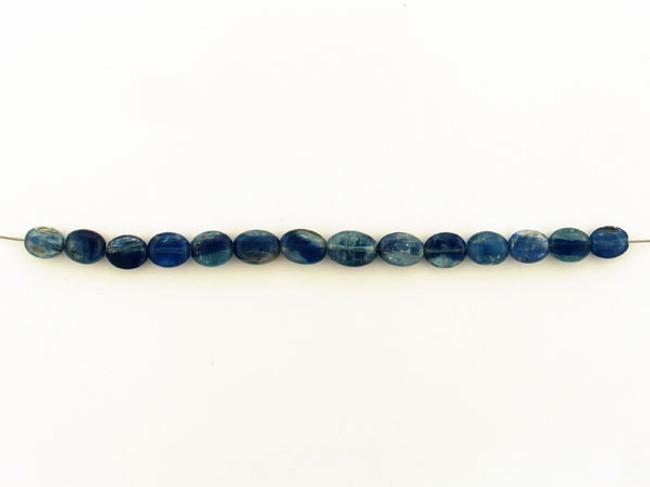 14 Count Graduated Dark Blue Kyanite Smooth Ovals (Sale)