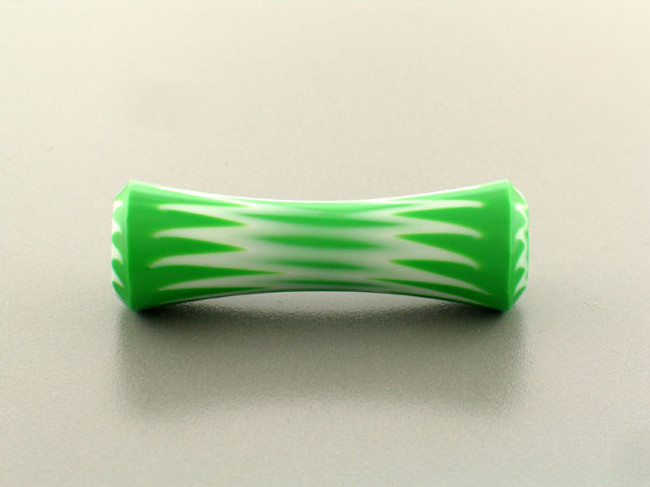 1 Count 54mm White And Green Luigi Cattelan's Italian Glass Bead '1 Of A Kind' (Sale)