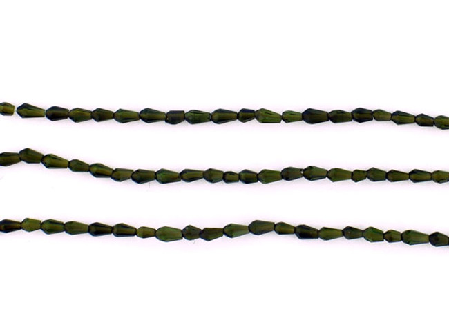 120 Count 2-3mm Green Tourmaline..Faceted Teardrops (Sale)