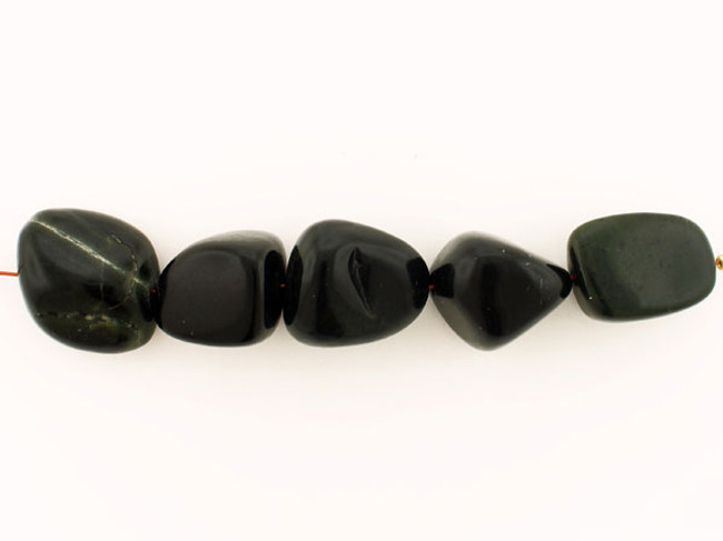 5 Count Varied Sizes Black Obsidian Smooth Nuggets (Sale)