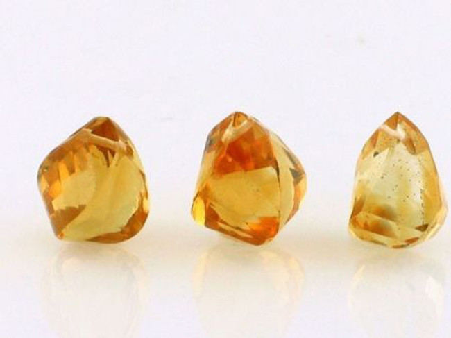 3 Count 10x7mm Golden Citrine Top Drill Twist Drops (Sale)