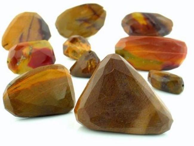 Apx 22 Count Moukaite Slice Gemstones (Sale)