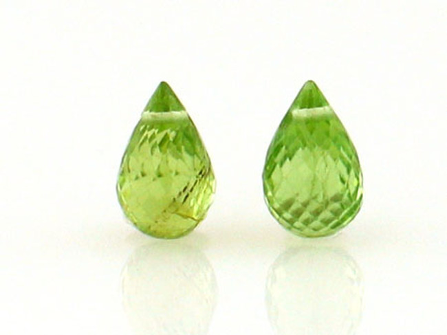 2 Count 9x5mm Peridot  Briolettes (Sale)