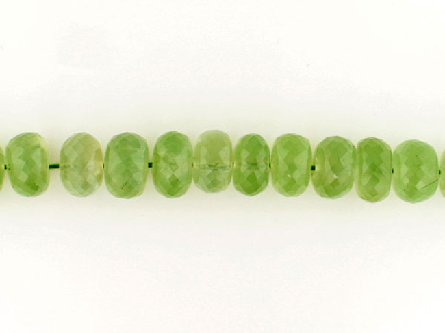 93 Count 6mm Prehnite Faceted Rondelles '1 Of A Kind' (Sale)
