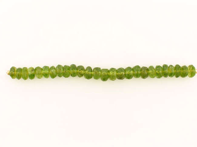 25 Count 7mm Green Ab Grade Peridot Faceted Rondelles (Sale)