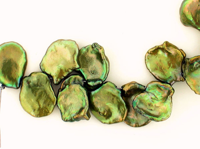 12 Count Varied Size Olive Green Pearl Cornflakes (Sale)