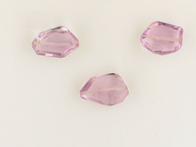 3 Count Varied Size Amethyst Faceted Nuggets (Sale)