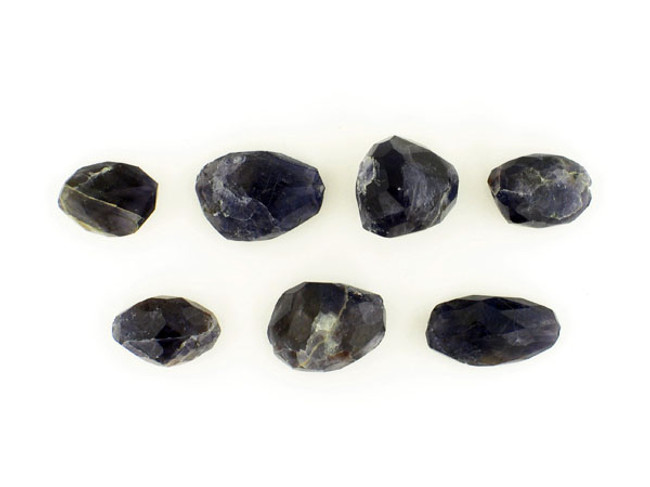 5 Count Iolite  Faceted Nuggets (Sale)