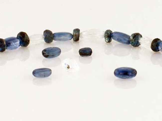 33 Count Kyanite & Clear Topaz Ovals/Rondelles (Sale)