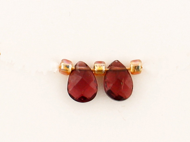 2 Count 5x4mm Brown Spinel Faceted Pears (Sale)