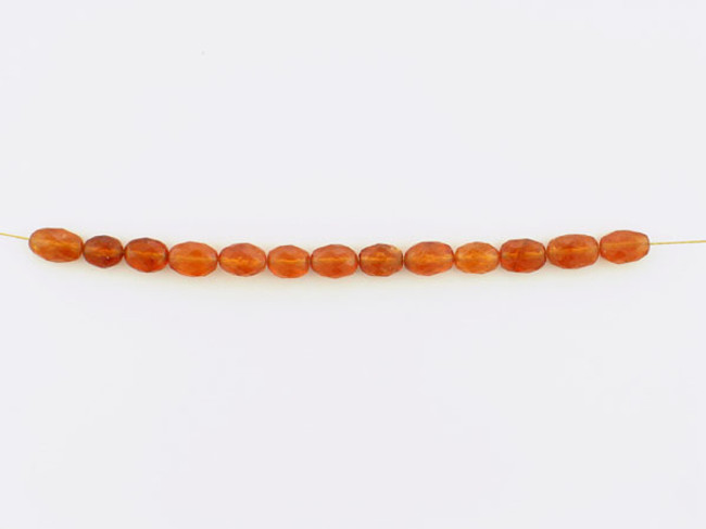 13 Count Graduated Orange Spessartite Faceted Ovals