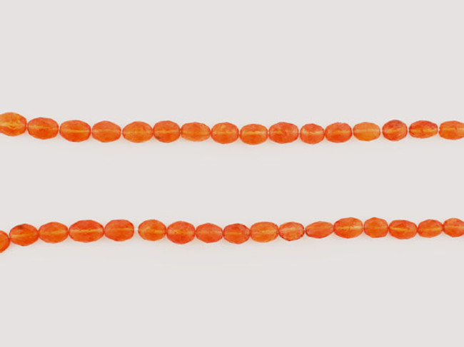 51 Count Graduated Orange Spessartite Faceted Ovals 'One Of A Kind' (Sale)