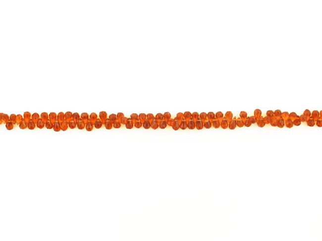 115 Count 6mm Orange Spessartite Faceted Briolettes (Sale)