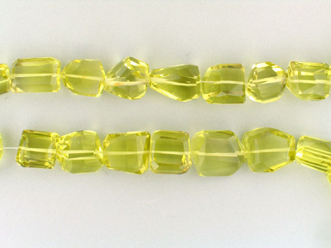 31 Count Graduated Lemon Topaz Faceted Nuggets  (Sale)