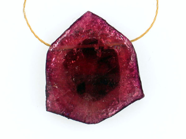 1 Count Pink Tourmaline Polished Slice 'One Of A Kind' (Sale)