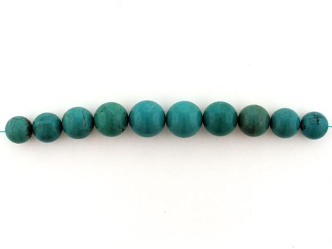 10 Count Graduated Blue Turquoise Rounds (Sale)