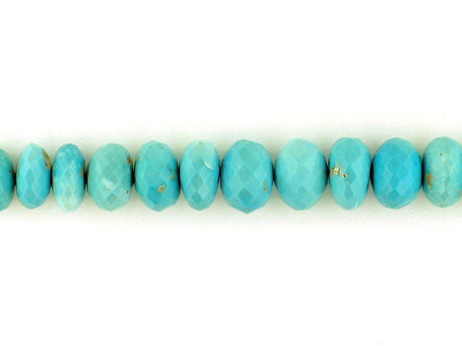 53 Count Graduated Sleeping Beauty Turquoise Faceted  Rondelles (Sale)
