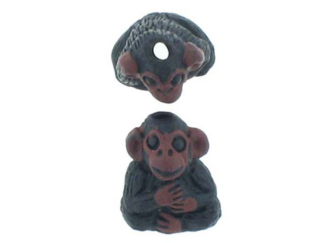 6 Count Chimpanzee Ceramic Teeny Tiny Beads (Sale)