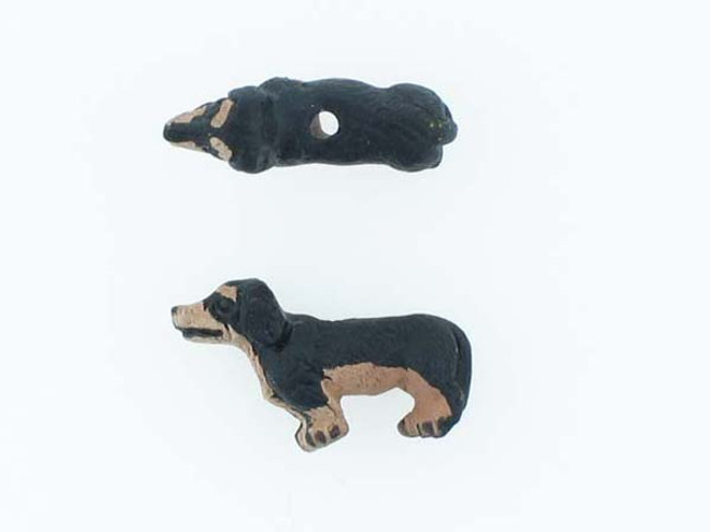 6 Count Dachshund Ceramic Teeny Tiny Beads (Sale)