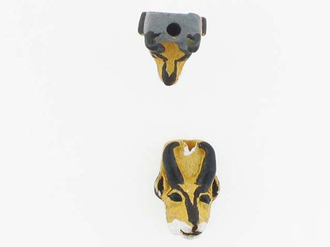 6 Count Antelope Head Ceramic Teeny Tiny Beads (Sale)