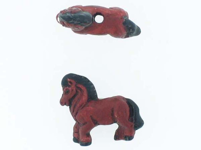 6 Count Horse Ceramic Teeny Tiny Beads (Sale)