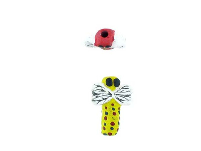 6 Count Assorted Color Dragonfly Ceramic Teeny Tiny Beads (Sale)