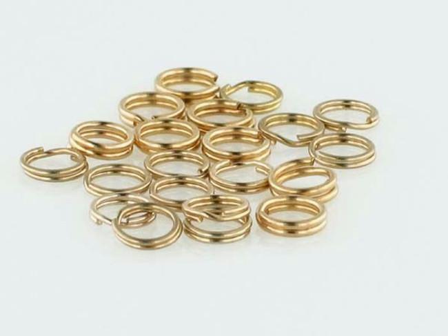 25 Count 4.5mm Gold Filled Split Rings