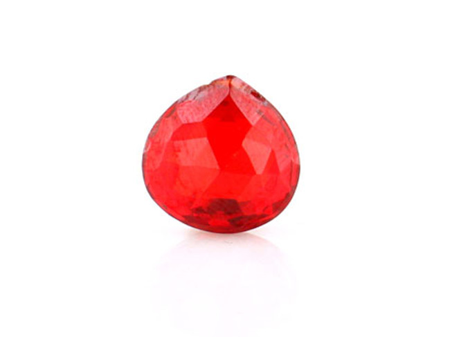 1 Count 15x15mm Orange Cz Faceted Pear (Sale)