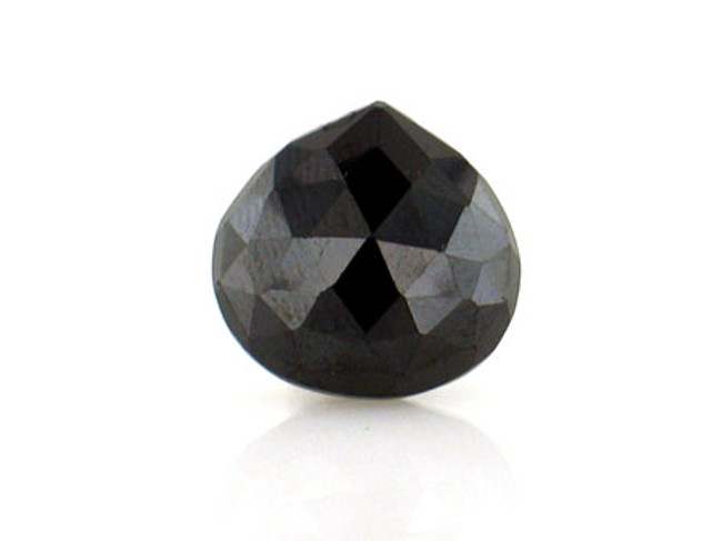 1 Count 15x15mm Black Cz Faceted Pear (Sale)