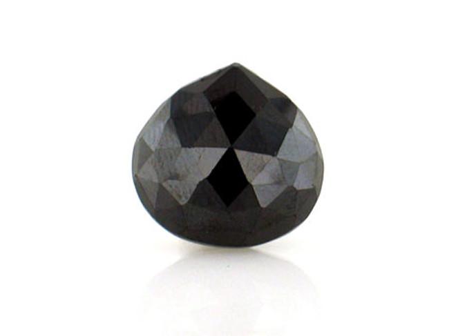 1 Count 15x15mm Black Cz Faceted Pear (Sale)