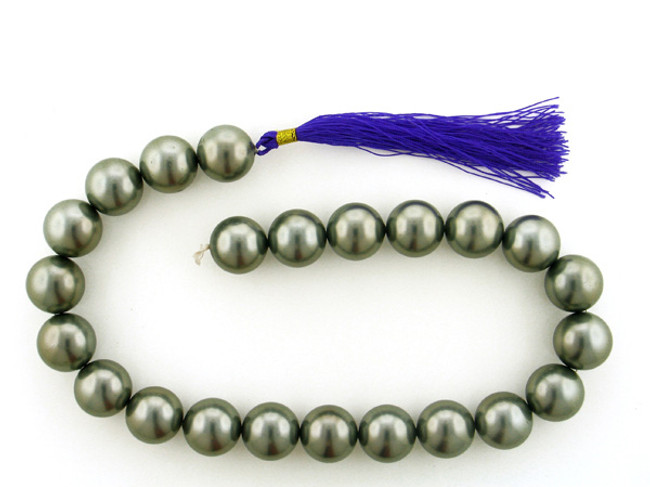 23 Count 18mm Dark Gray Faux Pearl Rounds (Sale)