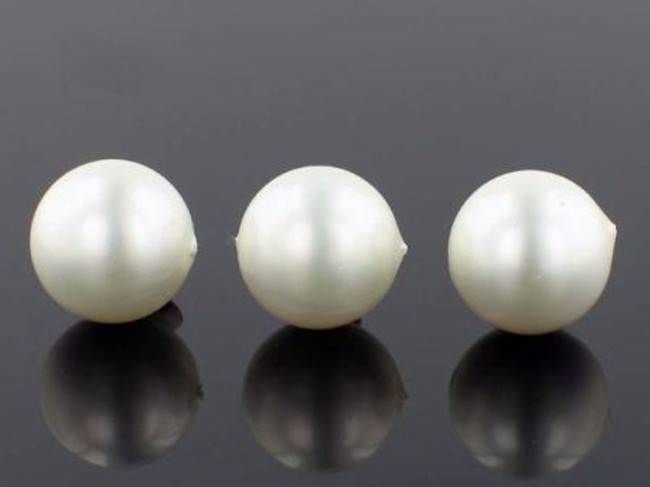 26 Count 16mm White Faux  Pearl Rounds (Sale)