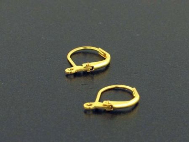 1 Pair Brass Leverback Earrings With Open Ring